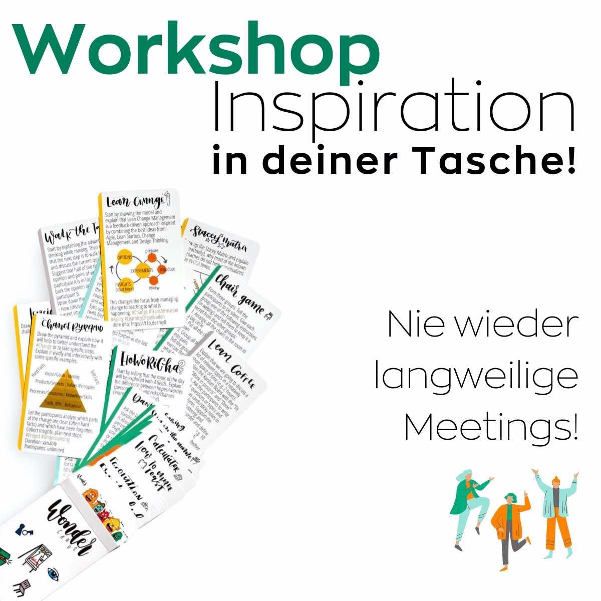 Wondercards Workshops agil gestalten mit Wondercards (Methoden-Spiele-Tools)